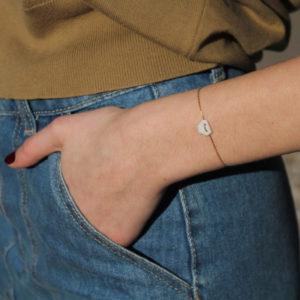 astrid c joaillerie bracelet porcelaine bracelet or géometrique bracelet or minimaliste bracelet or fin bracelet porcelaine à facettes bracelet luce