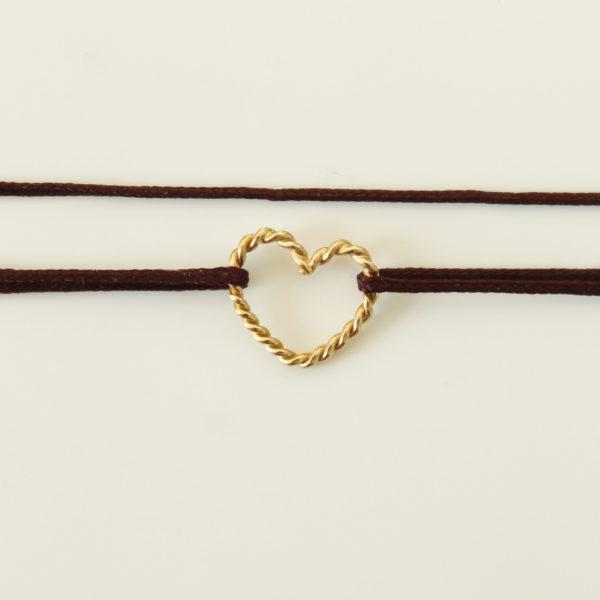 astrid c joaillerie bracelet coeur torsadé coeur or torsadé bracelet or coeur bracelet coeur sur mesure bracelet coeur lille