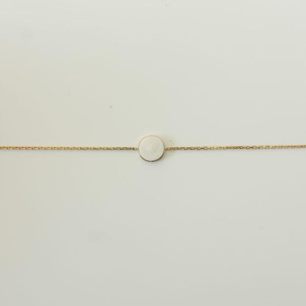astrid c joaillerie CALIXTE bracelet détail porcelaine biscuit étoile or 18 carats bijou fait main joaillerie lille