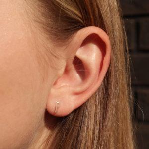 puce d'oreilles maillon puce oreille or 18 carats puces d'oreilles or petites boucle d'oreilles or mini boucle d'oreille