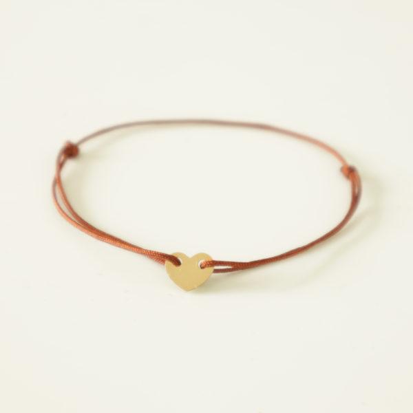 bracelet sur mesure bracelet coeur or 18 carats bracelet coeur lien bracelet or pas cher bracelet adolescente bracelet petite fille bracelet communion